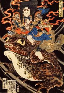 Utagawa Kuniyoshi-tenjiku-tokubei-giant-toadn