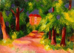 August Macke-Red House1914