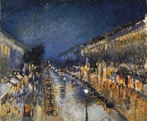 boulevard-montmartre-night-camille-pissarro1897