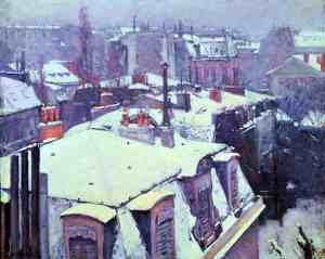 caillebotte.rooftops-snow