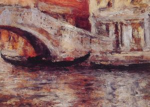 Chase_William_Merritt_Gondolas_Venetian_Canal1913
