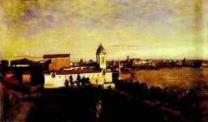 ChurchTrinita - Jean Baptiste Camille Corot