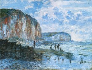 Claude.Monet.cliffs-lespetitesdalles1880