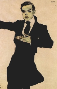 Egon Schiele-Portrait of Max Oppenheimer1910