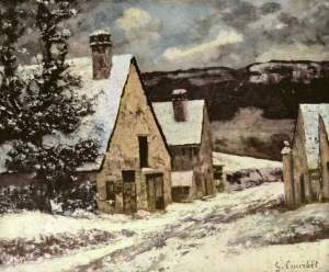 g.courbet.village-street-winter