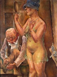 George Grosz- Mann und Frau1926