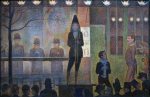 Georges Seurat -Circus Sideshow