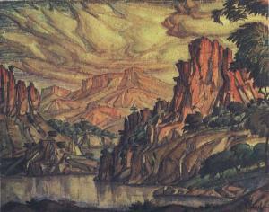 Konstantin Bogaevsky.crimean-landscape