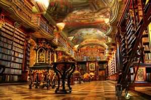 old world library