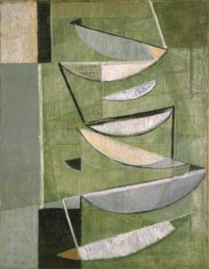 Green, Black and White Movement 1951 by Sir Terry Frost 1915-2003