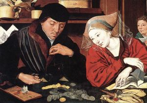 Marinus_van_Reymerswale-Banker_and_His_Wife