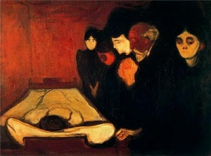 deathbed-fever1893.Munch