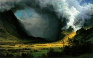 Albert Bierstadt.storm