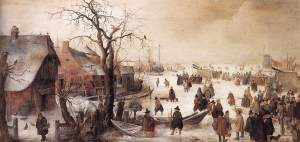 Hendrick Avercamp1585-1634.Winter-Canal