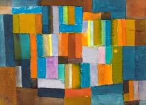Johannes Itten.composition-orangebluegreen1957