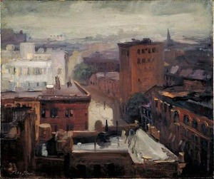John French Sloan.rain-rooftops-west4thstreet1913