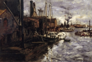 John Henry Twachtman.new-york-harbor