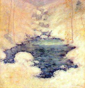 John Henry Twachtman.winter-silence1900