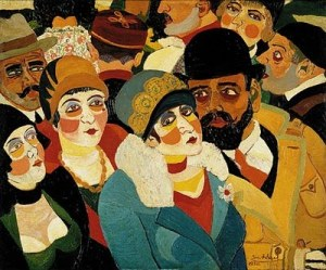 Josef Scharl.1896-1954.StreetSceneParis1930