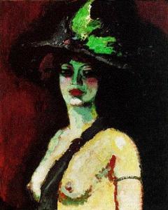Kees van Dongen.womanlargehat1906