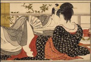 Kitagawa Utamaro.lovers