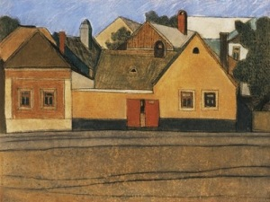 Lajos Vajda, Houses in Szentendre Blue Sky1935