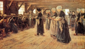Max Liebermann.spinning-workshop1889