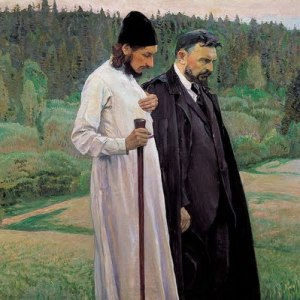 Mikhail Nesterov- Philosophers1917