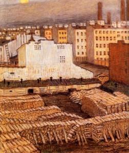 Mstislav Dobuzhinsky.city-1904