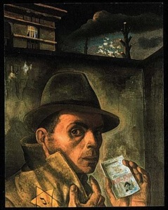Nussbaum's Self-Portrait with Jewish Identity Card1942
