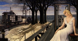 Paul Delvaux.shadows-1965