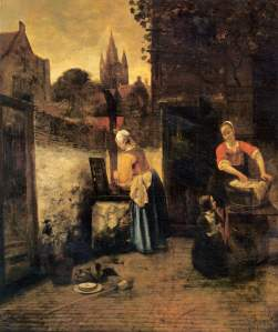 Pieter de Hooch.two-women-child-ourt