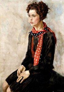 Rudolf Schlichter.Portrait.Karola Neher1929