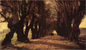 T. C. Steele.road-to-schleissheim1882