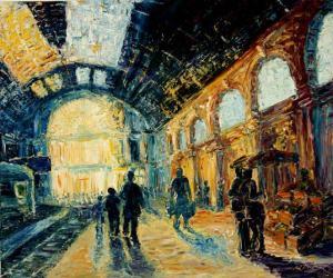 Train-Station-Impressionism