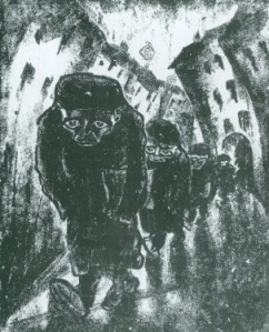 Walter Gramatte Morgenweg zum Amt1918