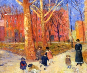 William James Glackens.washington-square1911