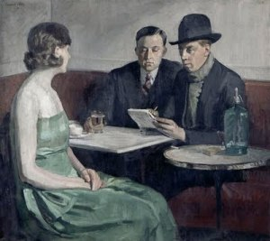 Constant Désiré Clety, Meeting in a Café1931