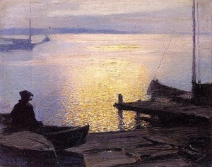 Edward Henry Potthast (1857-1927)Along the Mystic River