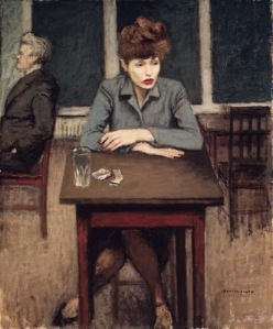 Raphael Soyer, Cafe Scene1946