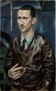 Rudolf Schlichter-Portrait Bert Brecht1926