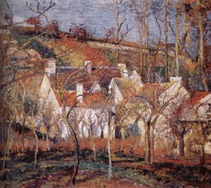 Camille Pissarro.roofs