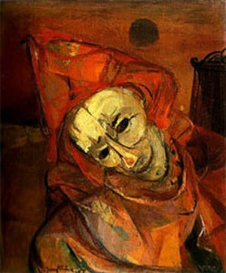 FranzKline-RedClown-Self-Portrait1944