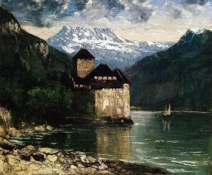 gustave.Curbet-chateau-du-chillon-1875
