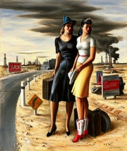 JerryBywaters-Oil-FieldGirls1940