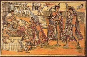 sacrifice.Aztecs