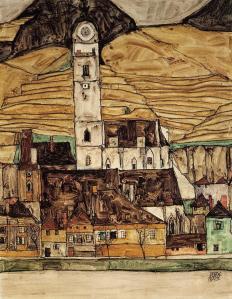 Stein_on_Danube_egon_Schiele1913