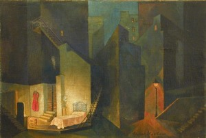 Altman Nathan(1889 - 1941), Stage Design for Uriel D'acosta by Karl Kutzkov. Jewish Chamber Theatre, Moscow