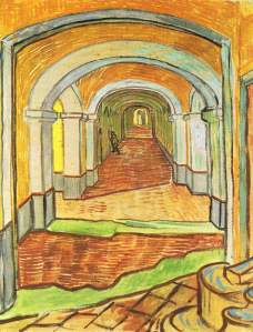 Corridor. Saint-Paul Hospital -Van Gogh