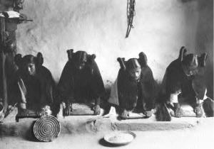Hopi women piki bread